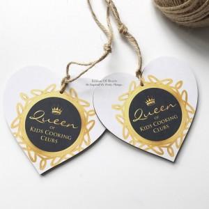 #QueenOf Winner Wooden Heart